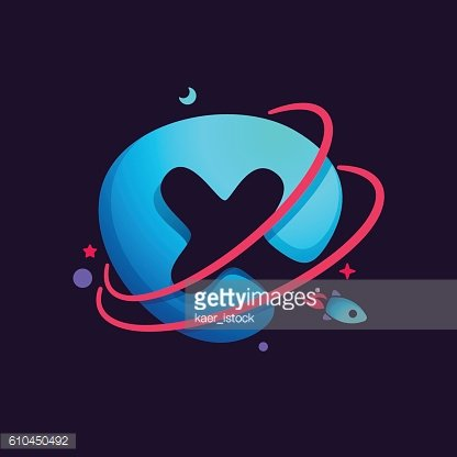 Letter x icon with. Planeten clipart orbit