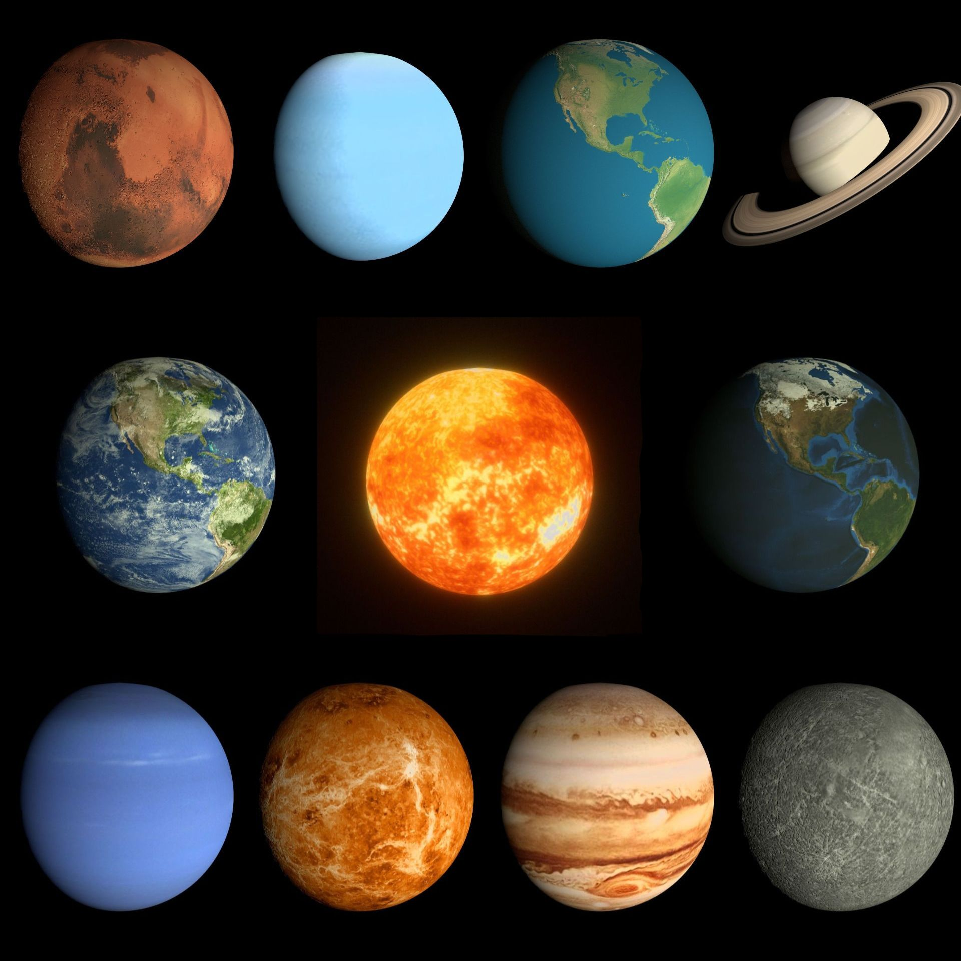 Planeten clipart order animation. Animated planet pack graphics