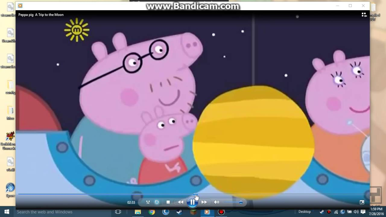 Planeten clipart order animation. Peppa pig beats a