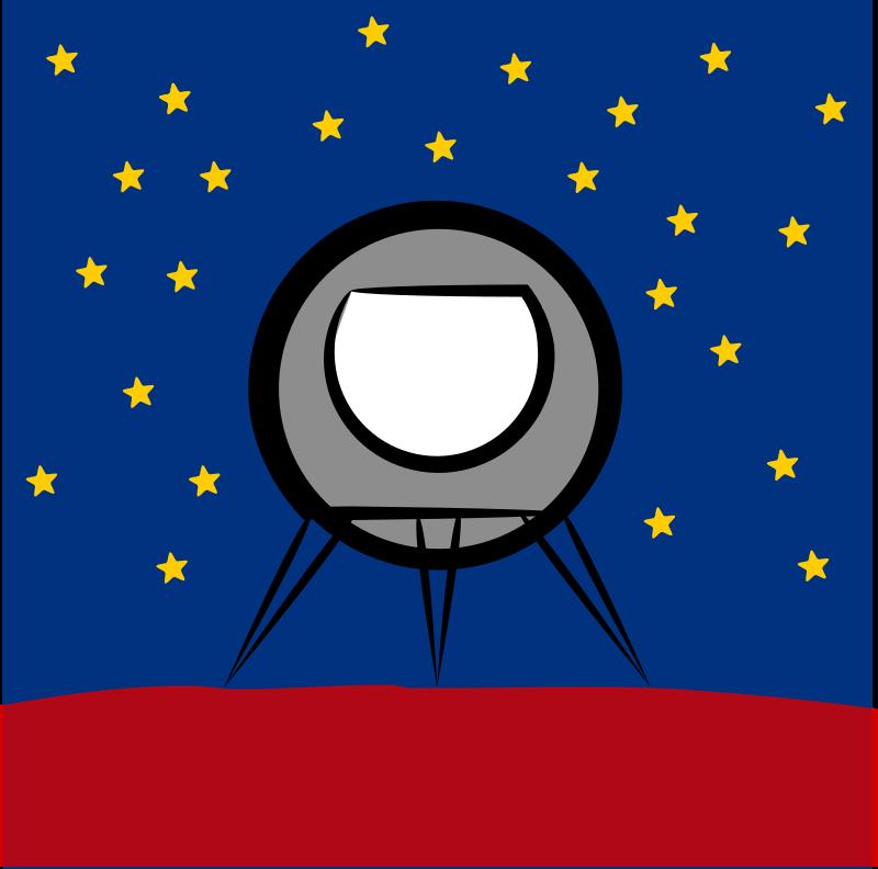 Rocket ship around planet. Planeten clipart order clipart