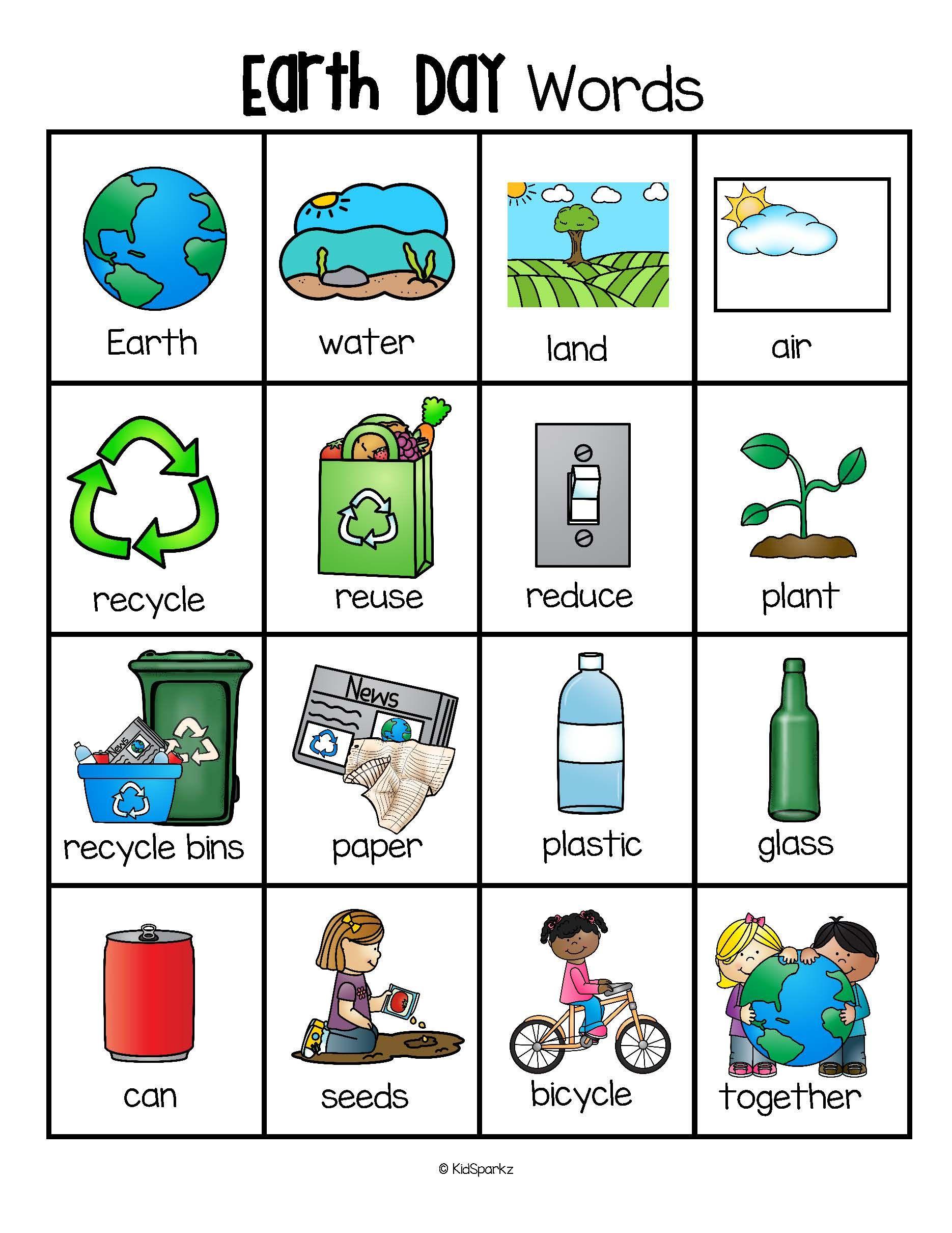Planeten clipart preschool. Earth day vocabulary words