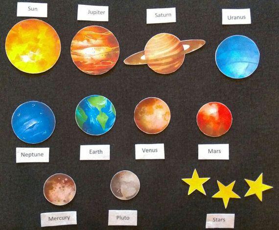 Solar system planets felt. Planeten clipart preschool