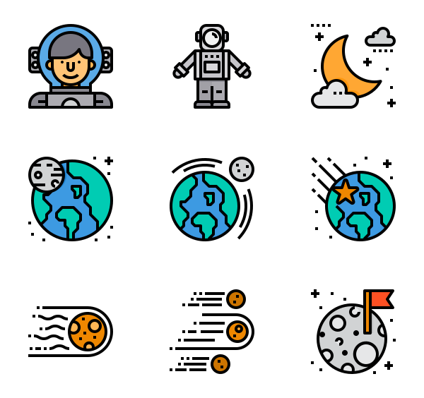 Planeten clipart real planet. Icons free vector