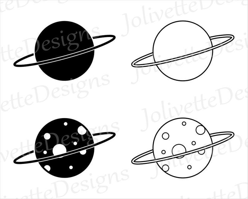 Planeten clipart simple. Einfache planet raum mond