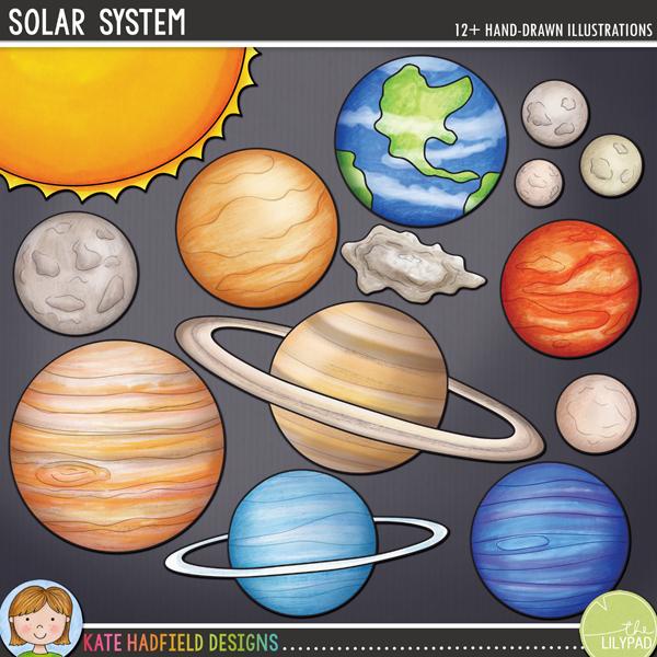 System . Planeten clipart solar sytem