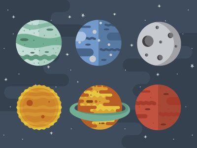 Planeten clipart space jam. Planets inspiration illustration flat