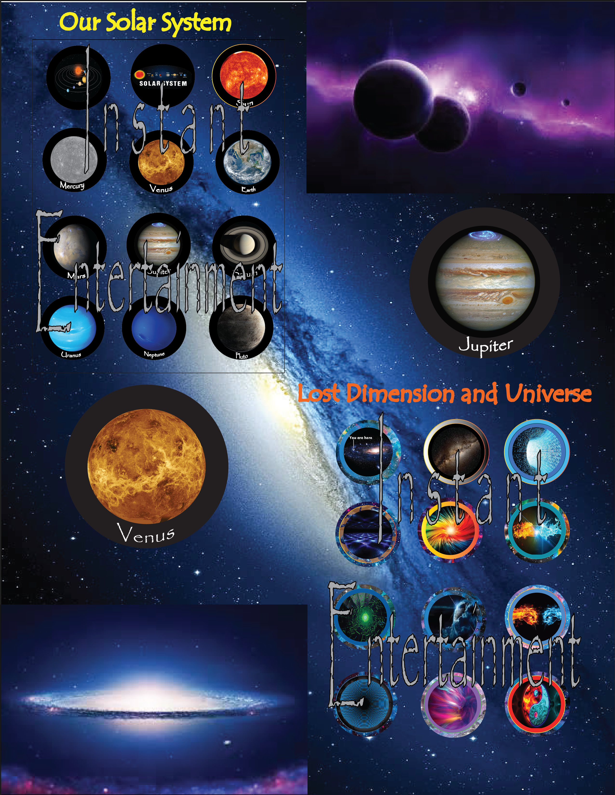 Toppers different topper planets. Planeten clipart space party