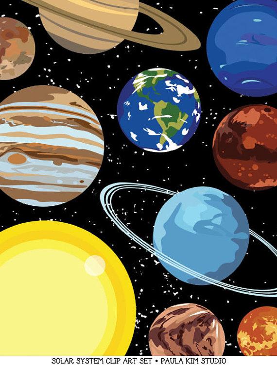 Solar system art outer. Planeten clipart space stuff