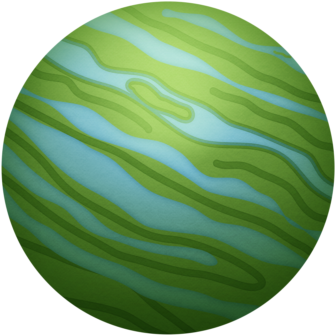 Planeten clipart spaceclip. Green planet outer space