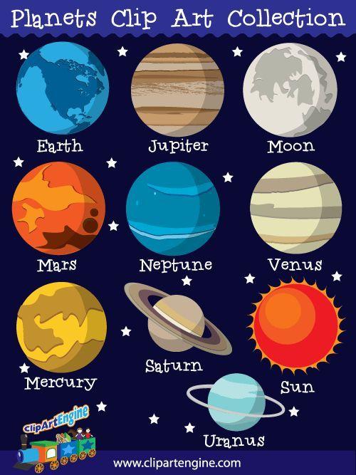 Planets clip art collection. Planeten clipart toddler