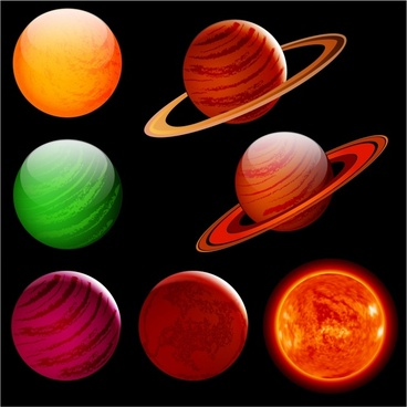 Planet free download for. Planeten clipart vector