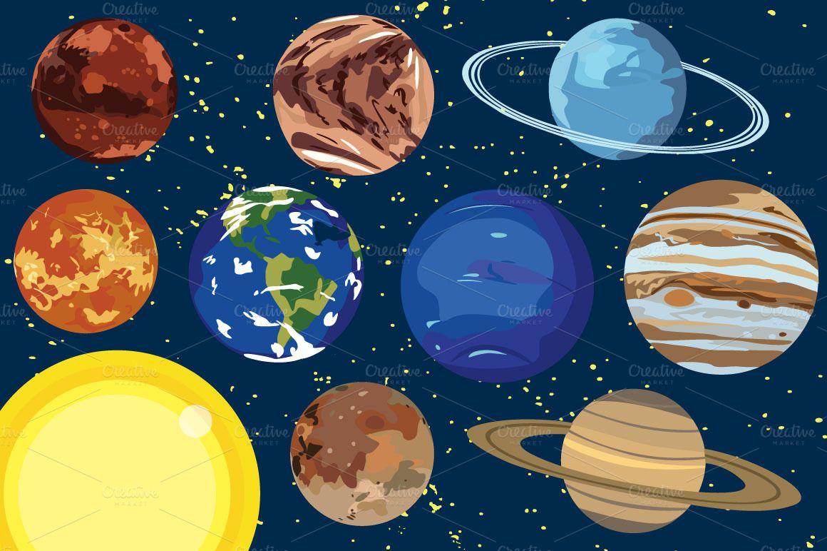 Planeten clipart vector. Solar system planet clip