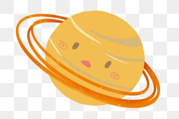 Png vector psd and. Planeten clipart yellow planet