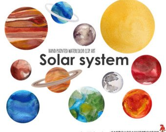 Etsy solar system clip. Planets clipart