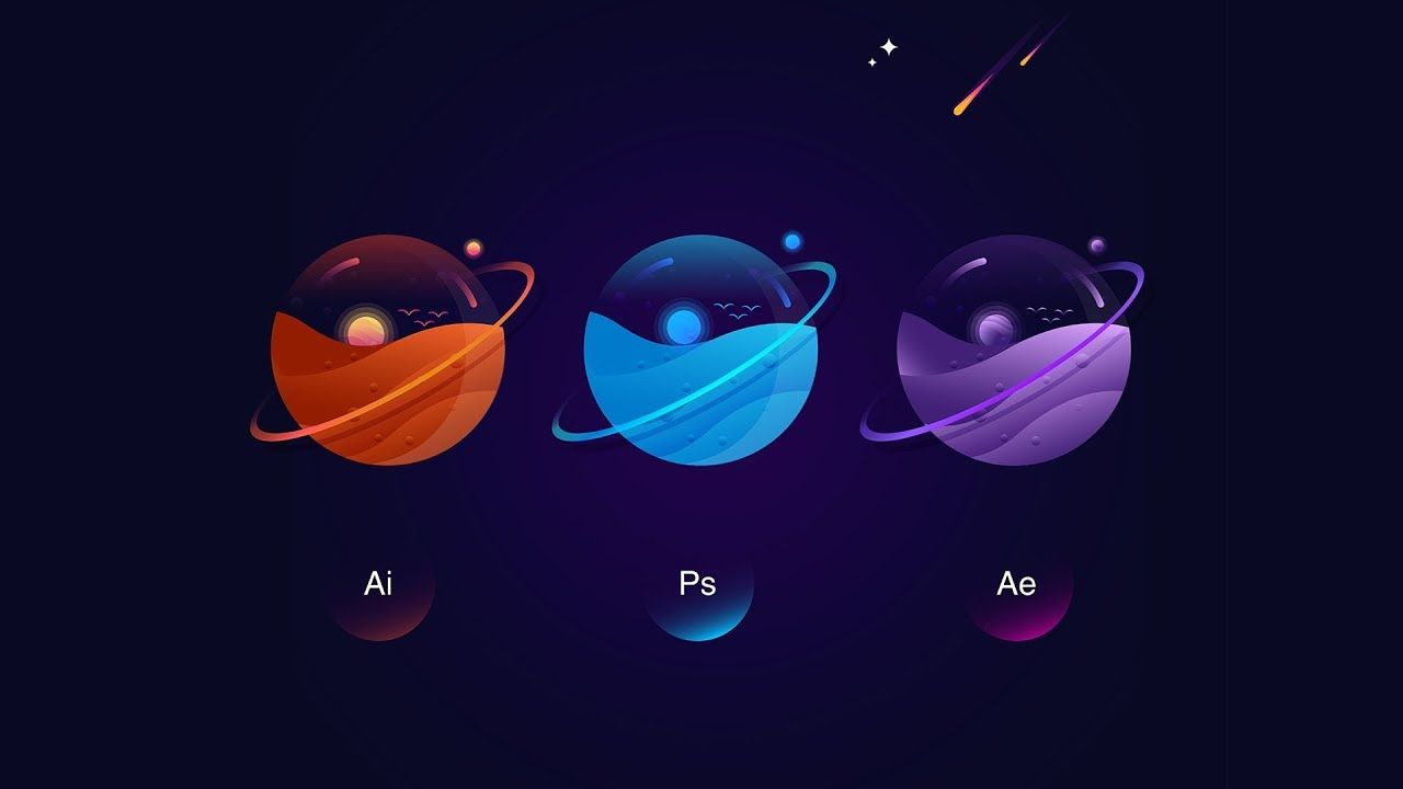 Planets clipart adobe illustrator. How to create vibrant