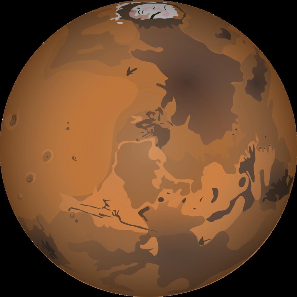The martian garden bulk. Planets clipart border