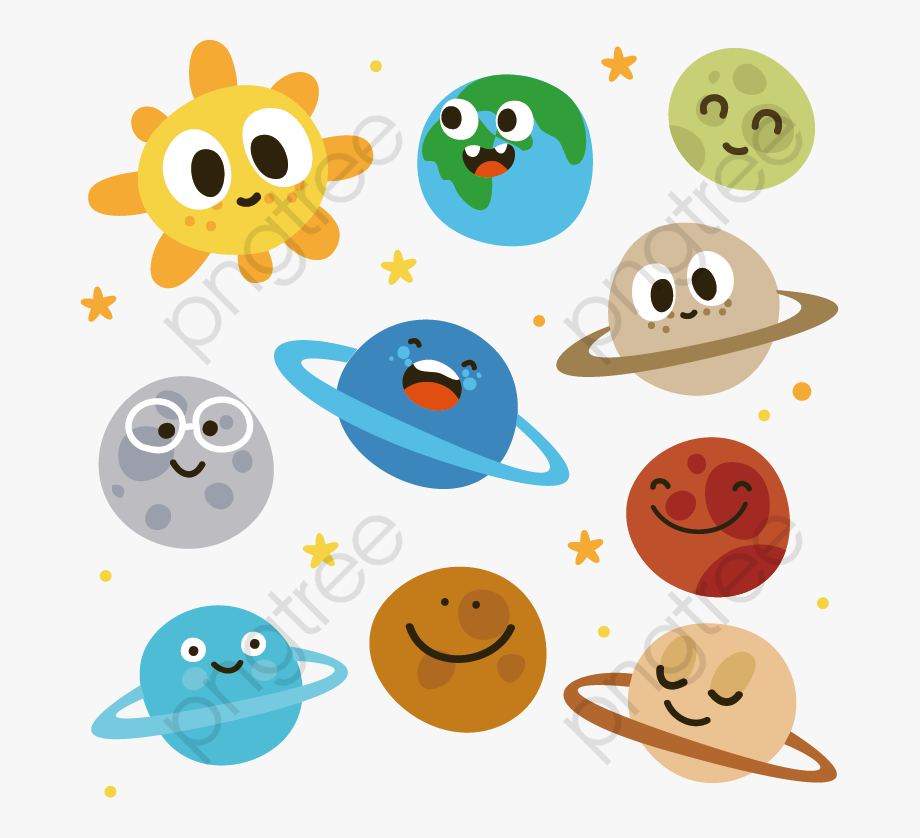 Planets clipart carton. Cartoon images of