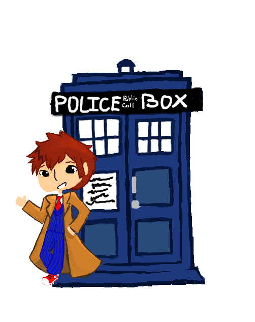 Planets clipart chibi. Doctor and the tardis