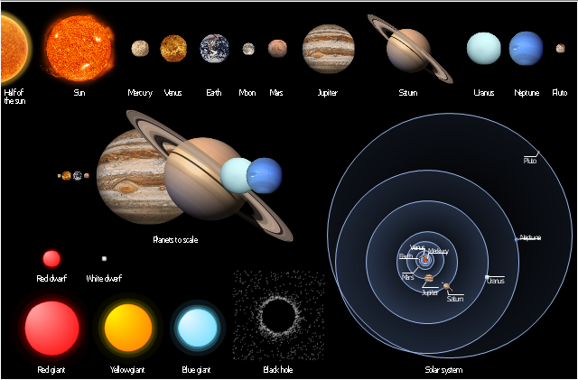 Planet clipart diagram. Design elements stars and