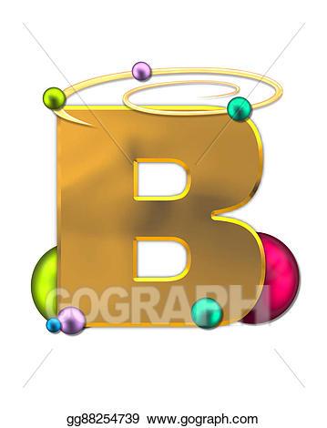 Planets clipart glowing. Stock illustration alphabet b