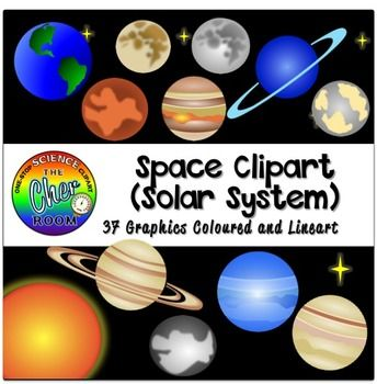 Planets clipart individual. Space solar system creative