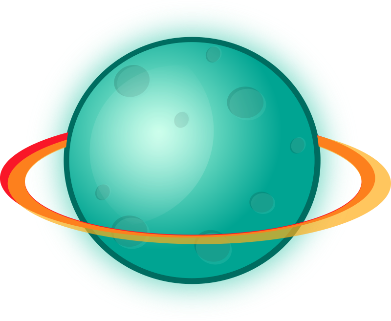 Planet with rings medium. Planets clipart planetary