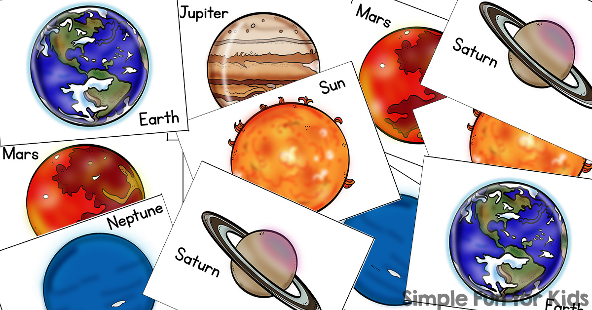 Planets clipart print. Sun and matching game