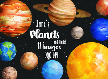 Planets clipart real planet. Watercolor