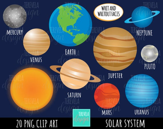Planets clipart real planet.  sale solar system