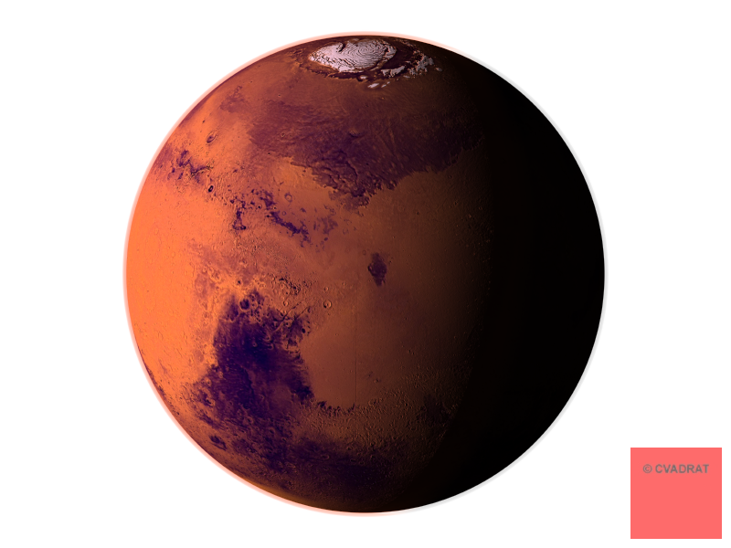 Cvadrat geometrical and mathematical. Planets clipart red planet