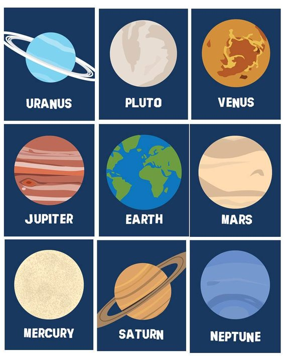 Pin on products . Planets clipart toddler