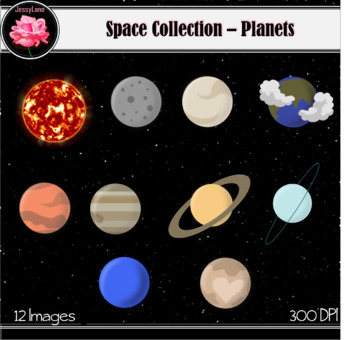 Planets clipart total.  jessylane space collection