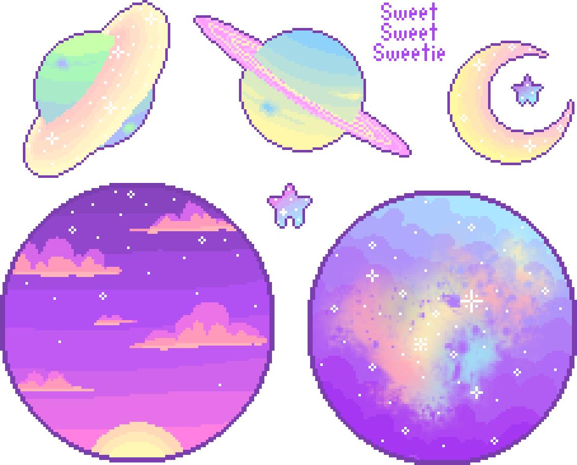 Art shop . Planets clipart transparent tumblr