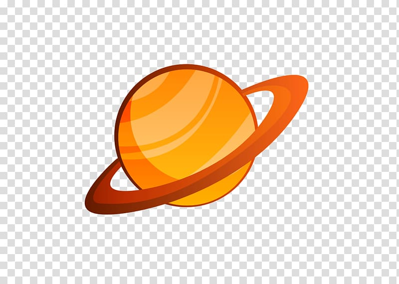 Saturn illustration solar system. Planets clipart yellow planet
