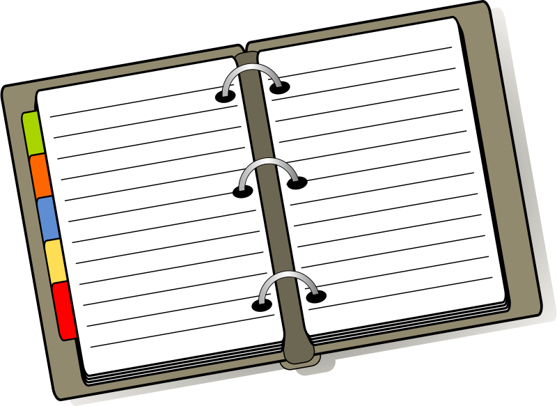 Agenda clipart planner. Free cliparts download clip