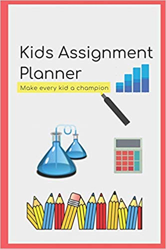 Planner clipart assignment notebook. Kids school book tracker