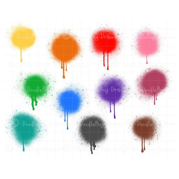 Spray paint colored digital. Planner clipart background