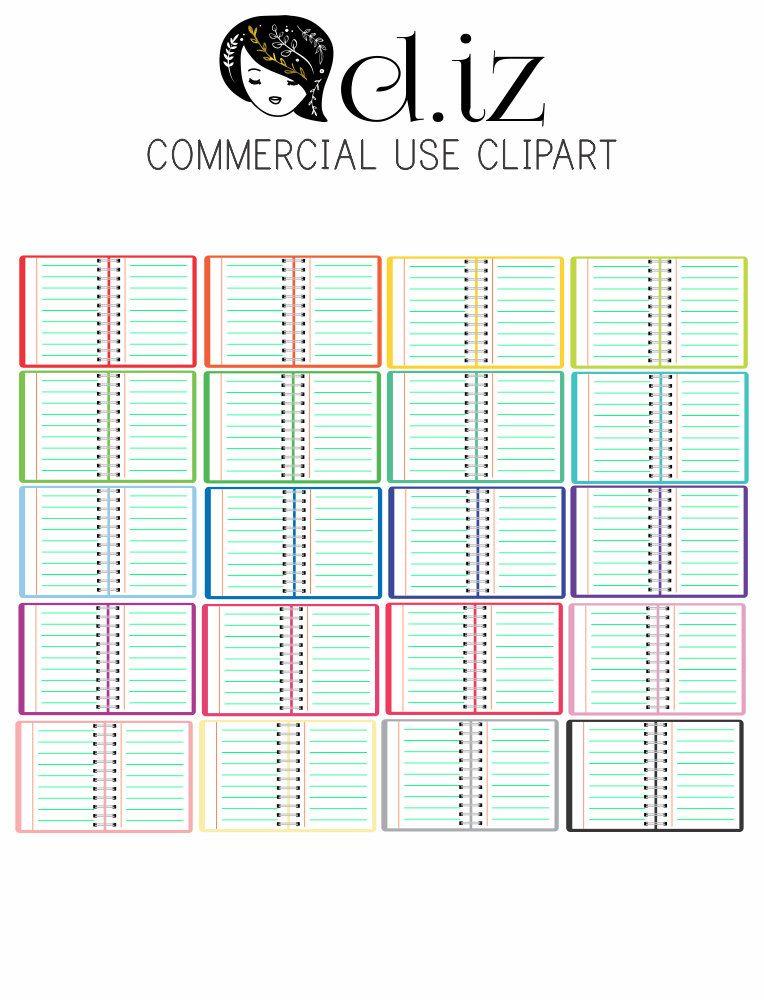Clip art open notebook. Planner clipart background
