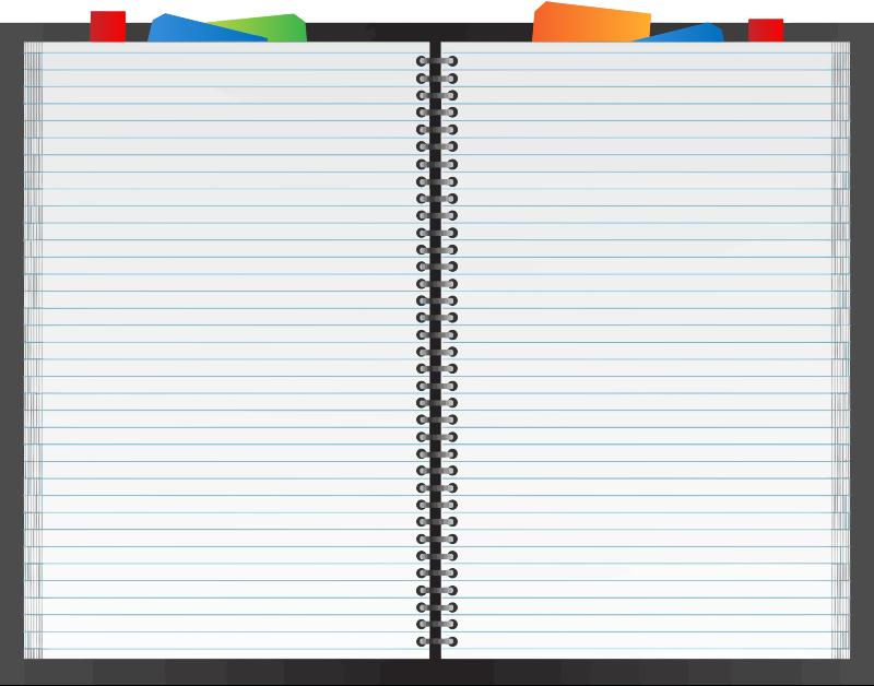 Planner clipart binder paper. Notebook line transparent