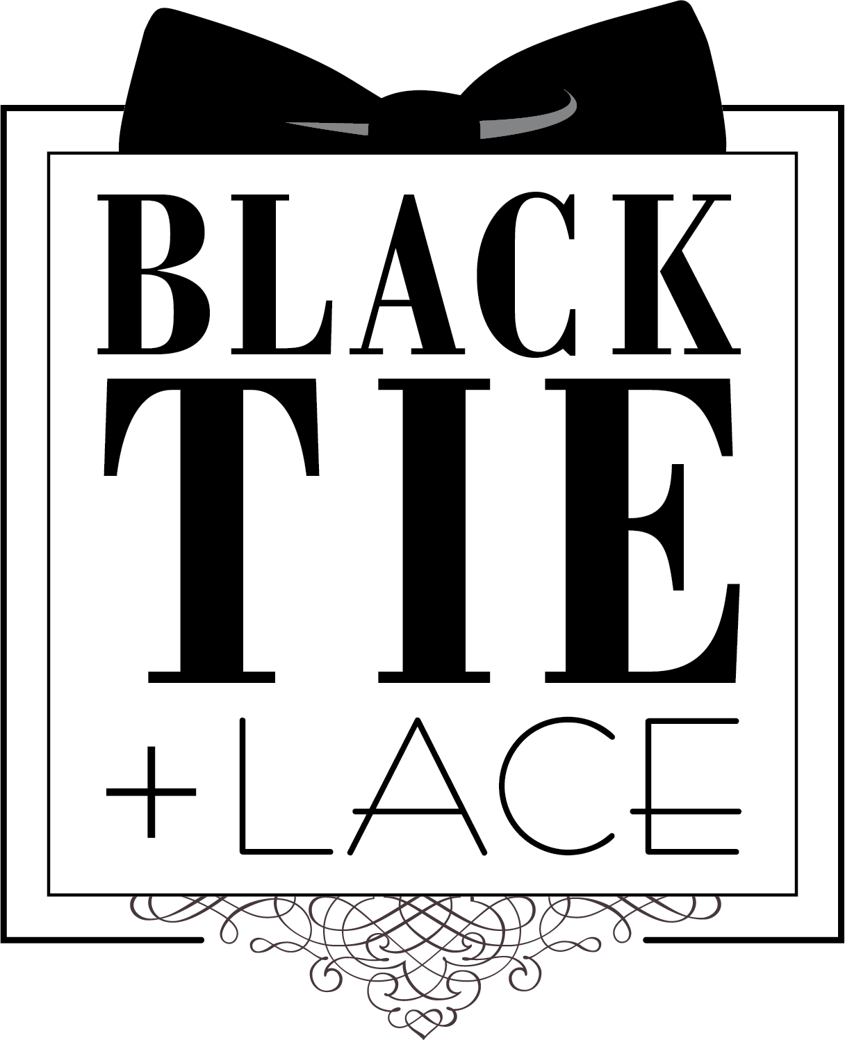 Planner clipart black and white. Blacktie lace