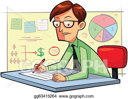 Planner clipart business planner. Eps illustration vector