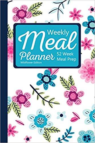 Weekly meal week prep. Planner clipart daily log