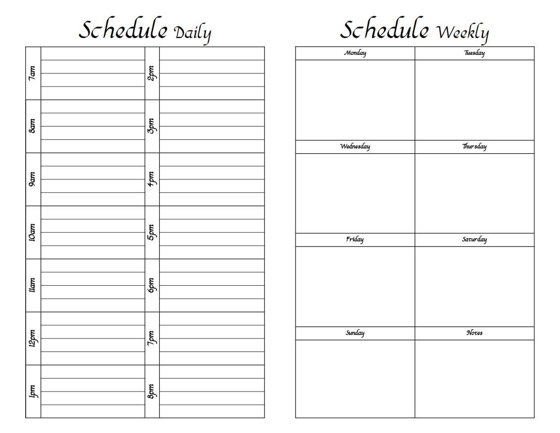 Planner clipart daily log. Calendar cute template free