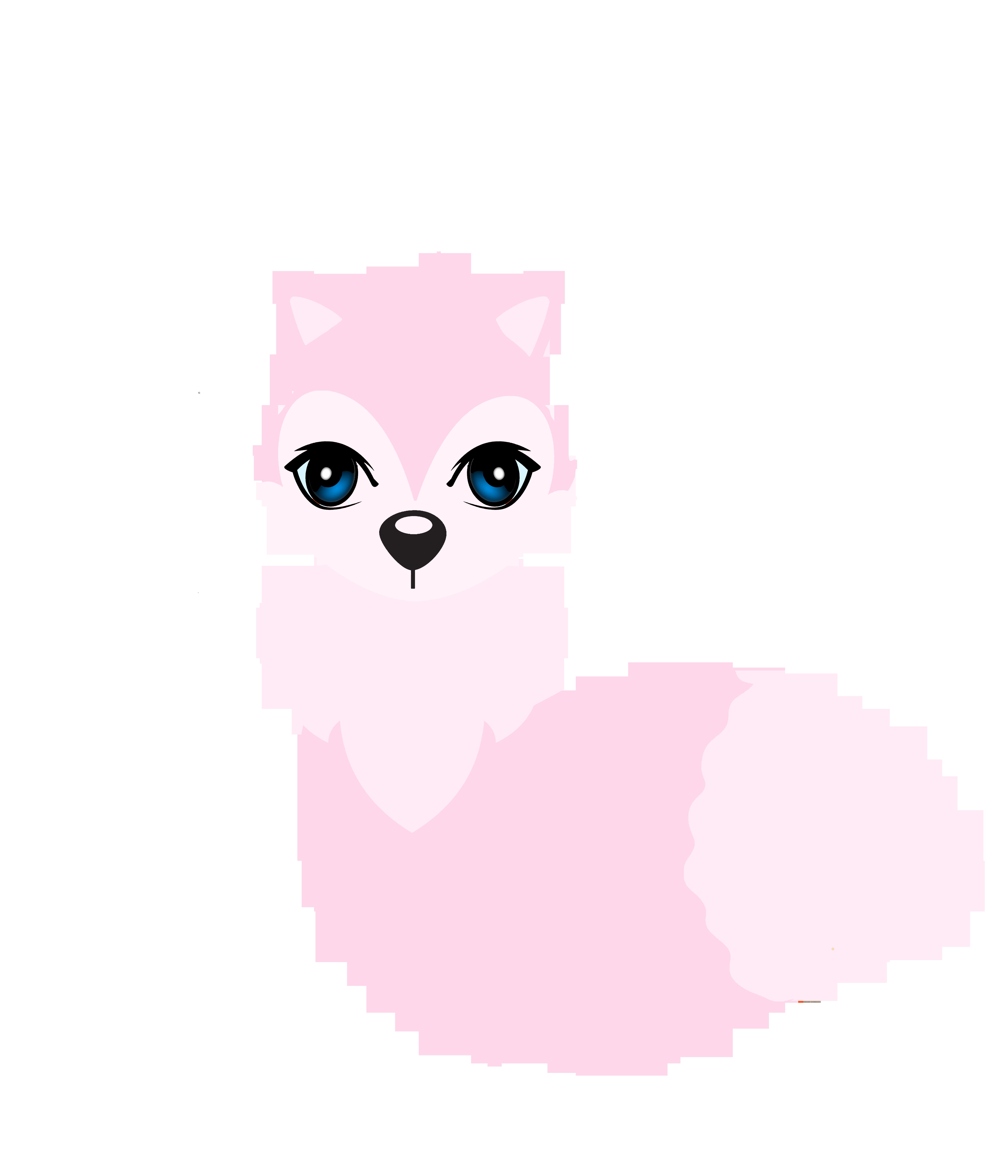 Cute fox clip art. Planner clipart digital