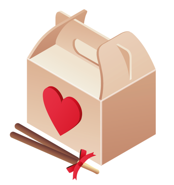 Planner clipart dinner. Valentine box png happiness