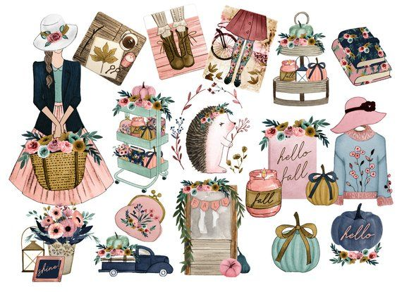 . Planner clipart fall