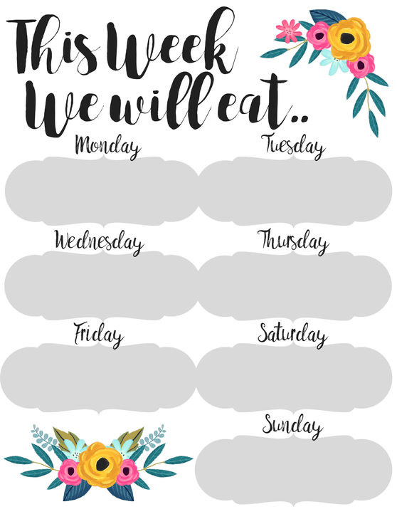 Planner clipart family plan. How to meal the