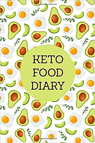 Keto diary and fitness. Planner clipart food journal
