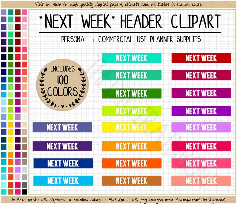 Sale next week stickers. Planner clipart future goal