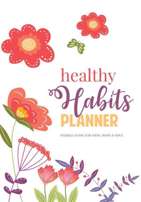 Planner clipart guide book.  healthy habits weekly